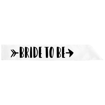 Bride To Be Bride Tribe Sashes