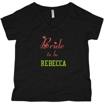 Bride to Be Curvy Plus Size Tank Top