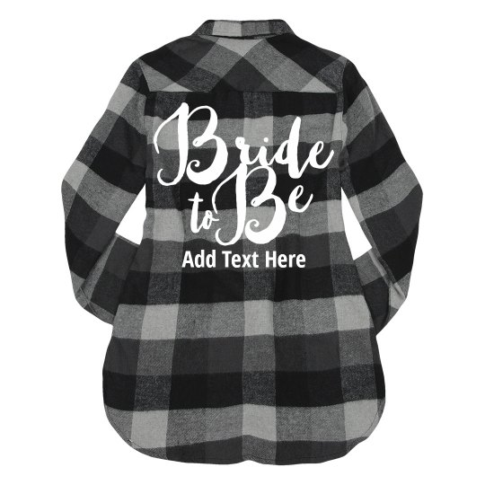 Bride To Be Custom Plaid