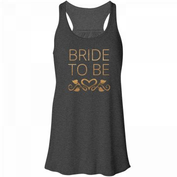 Bride To Be Heart Vine Tank Top