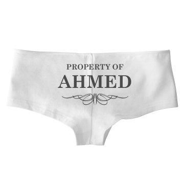 Bride To Be Property Of Ahmed