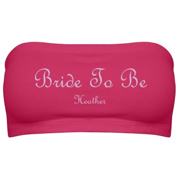 Bride To Be Purple Script