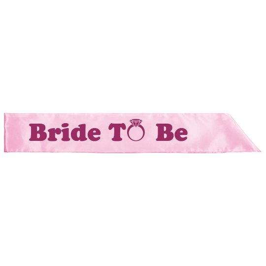 Bride To Be Ring Sash