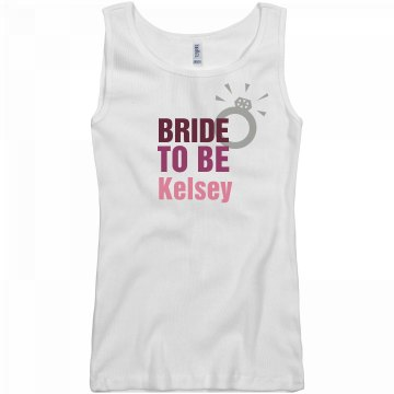 Bride To Be Ring Tank