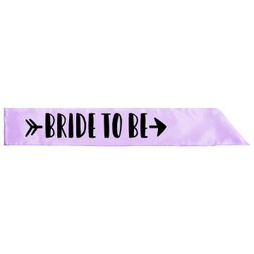 Bride To Be Satin Sash