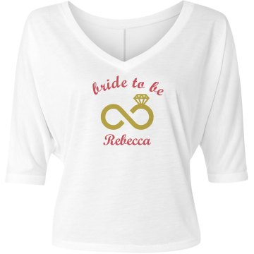 Bride to Be Tank Top with Ring