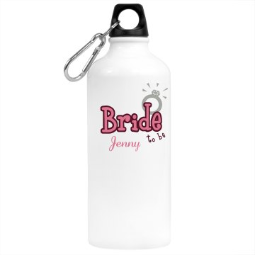 Bride To Be Water Bottle