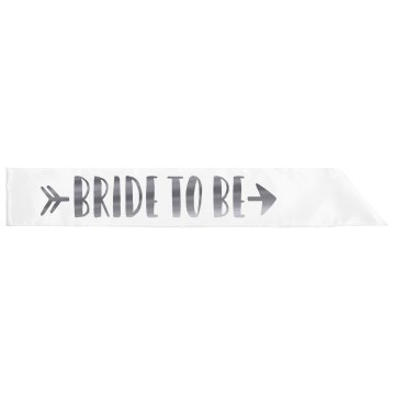 Bride Tribe Metallic Silver Sash