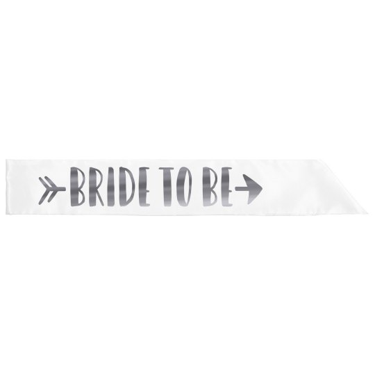 Bride Tribe Metallic Silver Sash