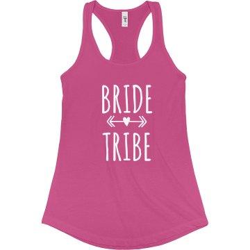 Bride Tribe Tank Top With Arrow Heart