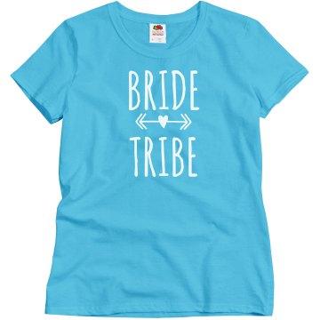 Bride Tribe Tshirt With Arrow Heart