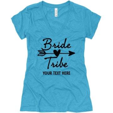Bride Tribe V-Neck Shirt, bachelorette shirts