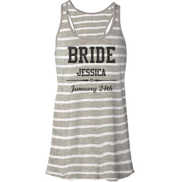 Bride With Name & Date