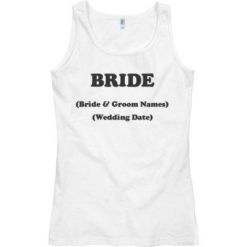 Bride with Wedding info