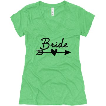 Bride's, Bride Tribe V-Neck Shirt, bachelorette shirts