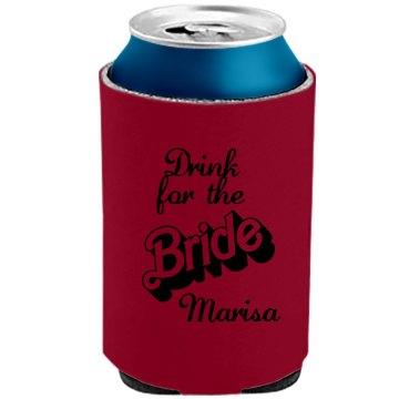 Brides Koozie Can Cooler