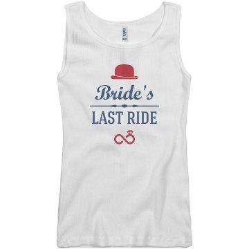 Bride's Last Ride tank