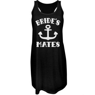Bride's Mates Nautical Bachelorette Beach Cover Up