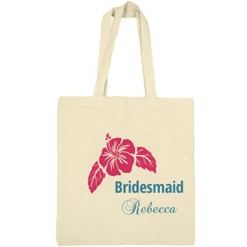 Bridesmaid Floral Totebag