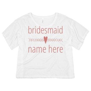 Bridesmaid Heart Arrow