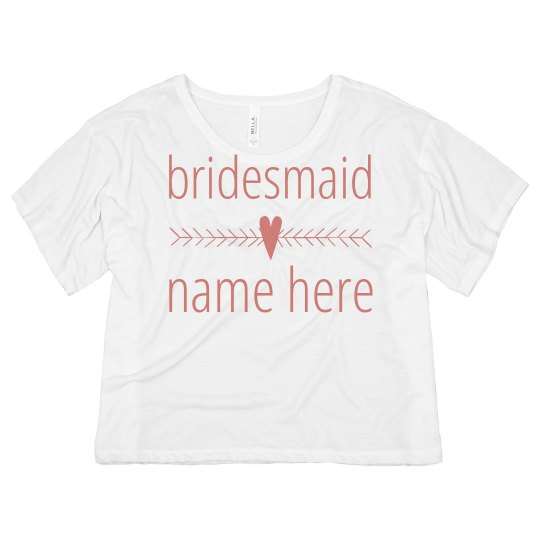 Bridesmaid Heart Arrow