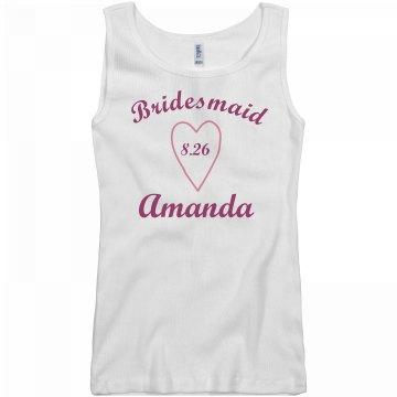 Bridesmaid Heart Tank