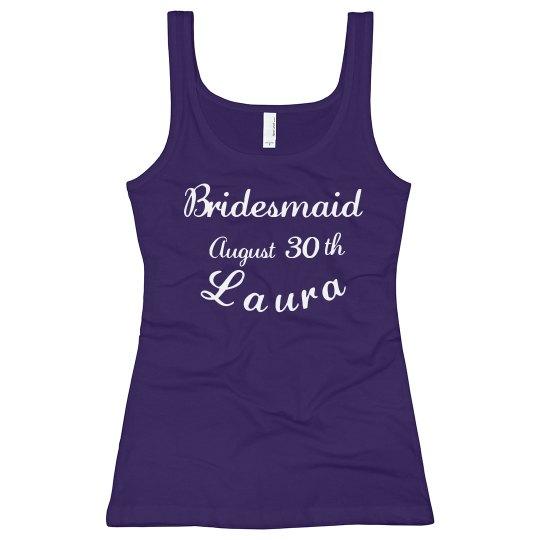 Bridesmaid In Blue