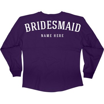 Bridesmaid Name Jersey