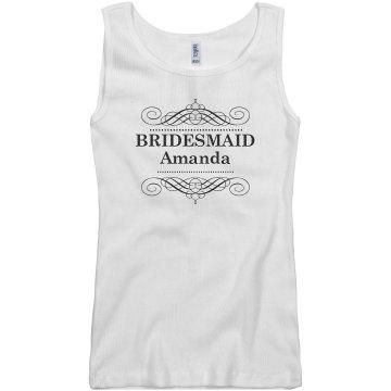 Bridesmaid Scroll Tank
