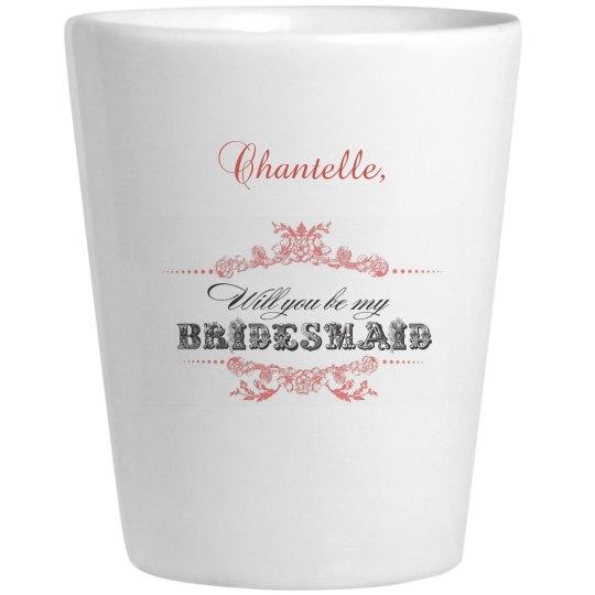 Bridesmaid Shot Glass 2