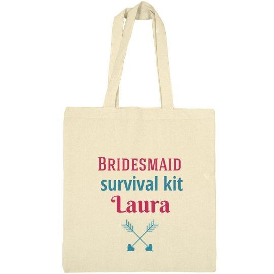 Bridesmaid Survival Kit Tote