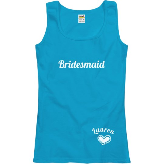 Bridesmaid With Heart