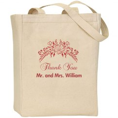 Floral Wedding Favor Bag