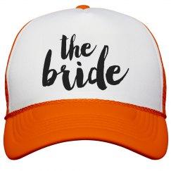 The Bride Typography Caps