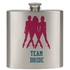 Team Bride Wedding Flasks