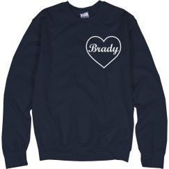 Heart sweatshirt navy