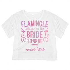 Glitter Flamingle Bride To Be