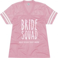 Custom Metallic Bride Squad Jersey