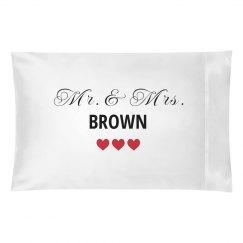 Mr. Mrs Pillowcases