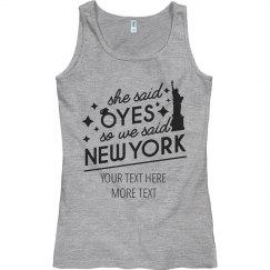 She Said Yes We Said New York