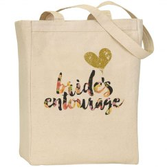 Custom Floral Bride's Entourage Tote