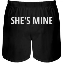 She's Mine Mens Boxers