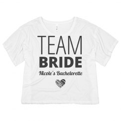 Team Bride Stripe Heart