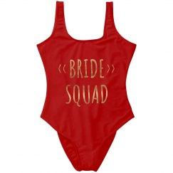 Metallic Trendy Bride Squad Design