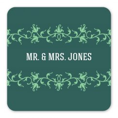 Mrs. Mr. Scroll Coasters