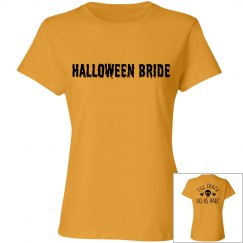 Halloween Bride Orange T-shirt