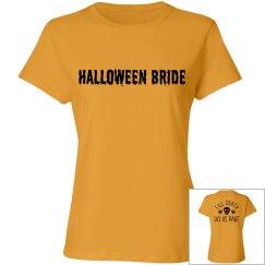 Halloween Bride Orange T-shirt