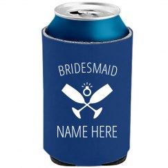 Custom Bridesmaid Koozie Diamond