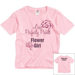 Flower Girl Tee w/Back