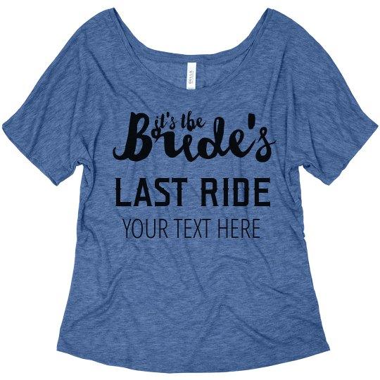106bbefe1ec4b It's The Bride's Last Ride Nashville